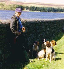 John with the Saighton dogs.